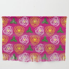 Bright pink floral Wall Hanging