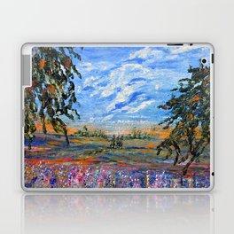 Peach Tree Valley, Impressionism landscape, modern impressionism Laptop & iPad Skin
