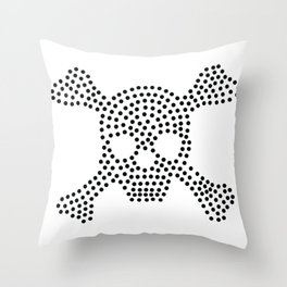 Skeleton Crossbones Throw Pillow