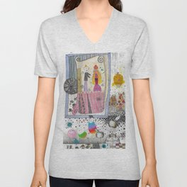 """Wedding II""  Illustrated print Unisex V-Neck"