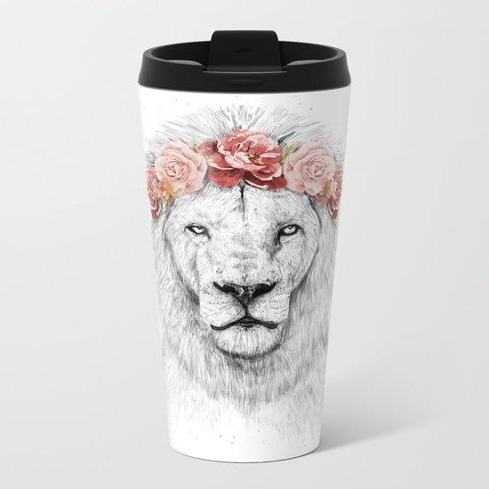 Festival lion Metal Travel Mug