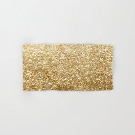 Gold glitter Hand & Bath Towel