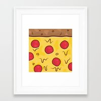 pizza Framed Art Prints featuring Pizza by Michael Walchalk