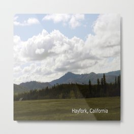 Cloudy Day in the Country... Metal Print