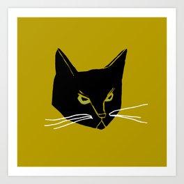 Mr. Black Cat Art Print