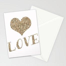 Glitter Heart Stationery Cards