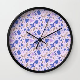 Cute Florals Wall Clock