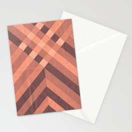Old Paper Geometric Pink Tones Stationery Cards