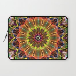 Mandala - Orange StarFlower Laptop Sleeve