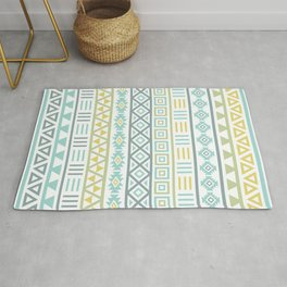 Aztec Influence Ptn Colorful Rug