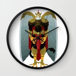 griffin knight eagle warrior Wall Clock