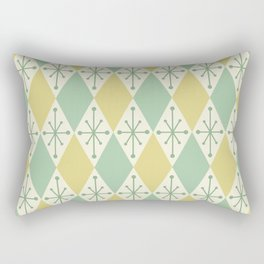 Diamonds and Starbursts Mint Rectangular Pillow
