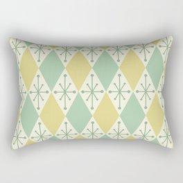 Diamonds and Starbursts Mint Rectangular Pillow