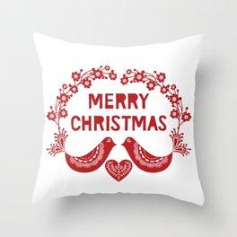 Scandinavian Christmas Greeting 03 Throw Pillow
