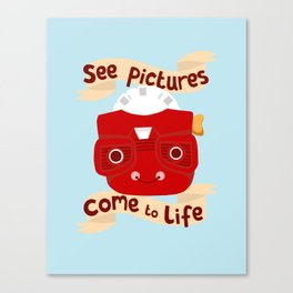 View Master Makes Pictures Come To Life Canvas Print