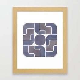 MONTE ALBÁN MOD (ECLIPSE), pattern by Frank-Joseph Framed Art Print