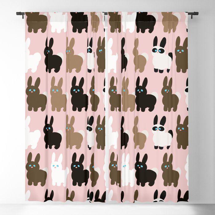 Spring bunny rabbits Blackout Curtain