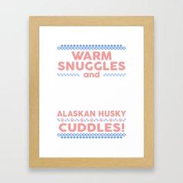 Alaskan Husky Ugly Christmas Sweaters Framed Art Print