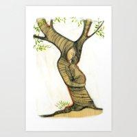 Hug tree Art Print