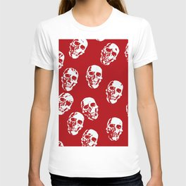 Hot Skulls, red white T-shirt