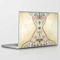 vintage floral Laptop & iPad Skins featuring Vintage Floral by Robin Curtiss
