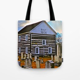 The Old Log Church Tote Bag