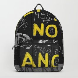 Black and White Yellow Bologna Street Photography Backpack