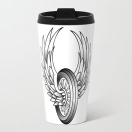 Winged Motorcycle Wheel Travel Mug