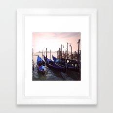 Gondola Venice Italy Travel Photography Framed Art Print