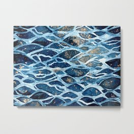 Drowning under a starry night Metal Print