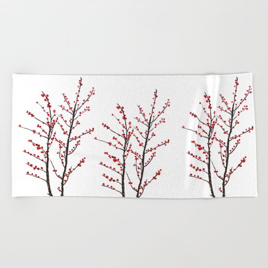 red beans branch Beach Towel