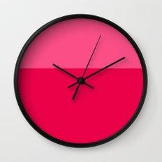 Color Block Pink Wall Clock
