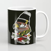 falcon Mugs featuring falcon by Mirek Kopinec