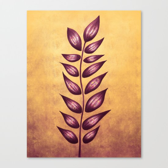 Abstract Plant With Purple Leaves Canvas Print