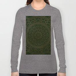 Mandala Royal - Green and Gold Long Sleeve T-shirt