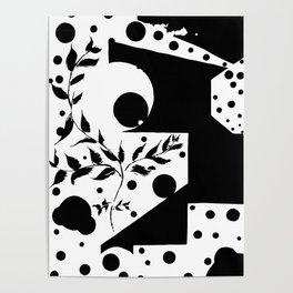 Plants & polka dots Poster