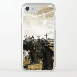 Ghostly Graveyard Clear iPhone Case