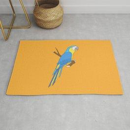 blue parrot Rug