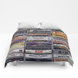 Old 80's and 90's Hip Hop Tapes v2 Comforters