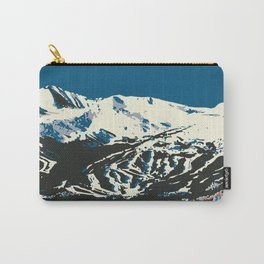 Blue Breckenridge Vintage Ski Poster Carry-All Pouch