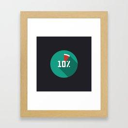 "Illustration ""percentage - 10%"" with long shadow in new modern flat design Framed Art Print"