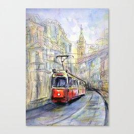 old tram Canvas Print