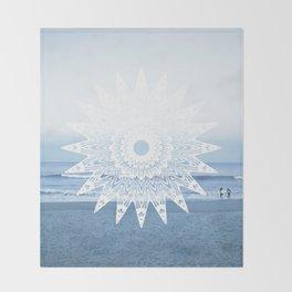 Surf mandala Throw Blanket