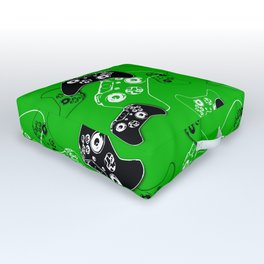 Video Game Green Outdoor Floor Cushion