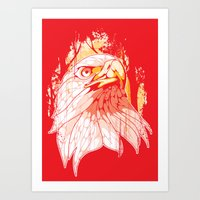 eagle Art Prints featuring Eagle by KUI29