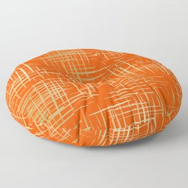Crosshatch Fire Floor Pillow