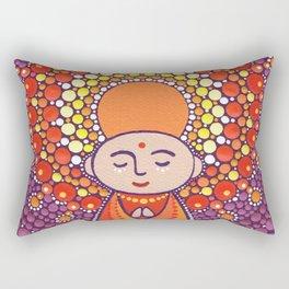 Jizo Meditating upon a Ruby Lotus Rectangular Pillow