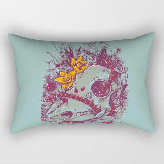 Death Blooms Rectangular Pillow