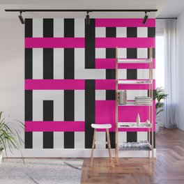 Licorice Bytes, No.18 in Black and Pink Wall Mural