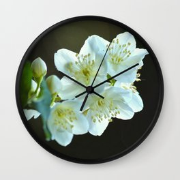 Jasmine flower Wall Clock
